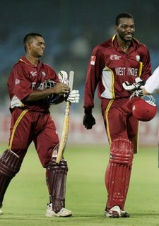 Pakistani bowlers could not dominate the West Indian stalwarts Gayle and Chanderpaul
