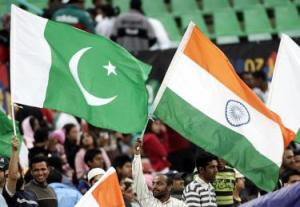 INDIA AND PAKISTAN FLAGS ON CRICKET GROUNDS