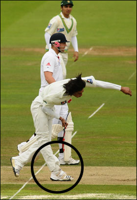A GIANT NO BALL THAT WAS AGREED TO BE BOWLED AT A PARTICULAR TIME