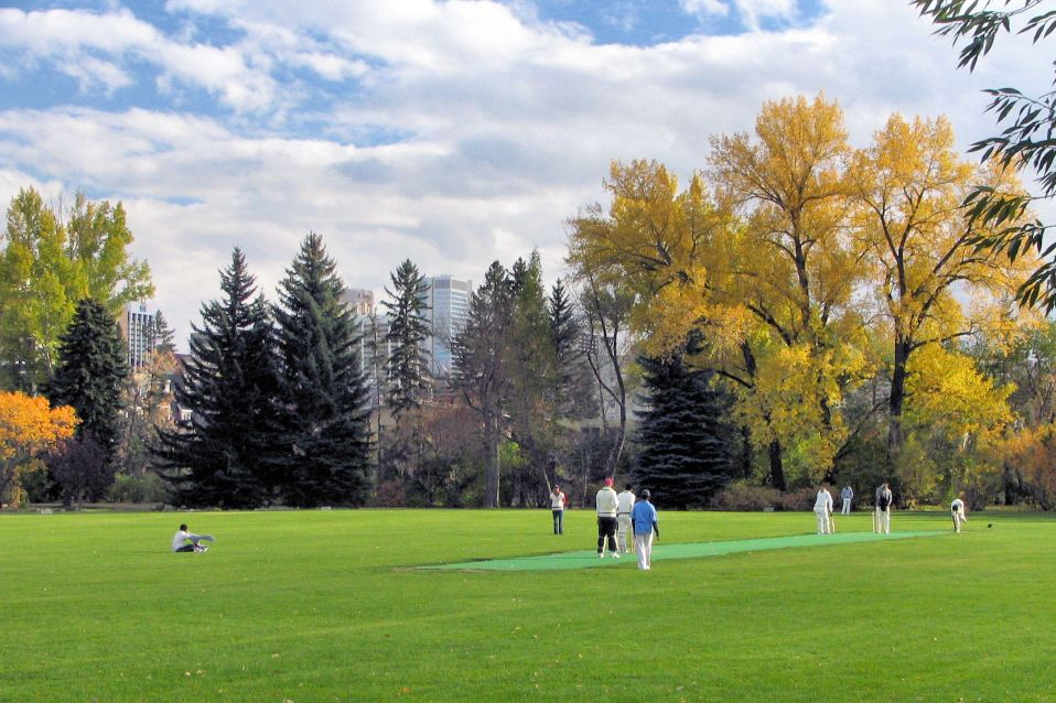 Calgary Cricket Ground in Fall Season